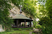 Chapel in the forest, Maria im Stein, Owingen, Lake Constance, Baden-Württemberg, Germany