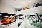 Porsche Museum, architect Delugan Meissl, Stuttgart, Baden-Württemberg, Germany