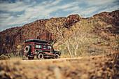 Off-road vehicle in Purnululu National Park in Western Australia, Oceania;