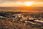 Aerial view over the Kimberley region, Western Australia, Oceania,