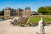 France, Paris, Luxembourg Palace, The Senat from the Luxembourg Gardens