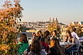 France, Paris, the Printemps department store, the roof bar terrace