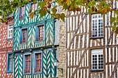 Frankreich, Ille et Vilaine, Rennes, historisches Viertel, Ort Saint Anne, Fachwerkhäuser