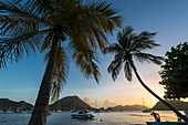 France, Guadeloupe (French West Indies), Les Saintes archipelago, Terre de Haut, Anse Mire, Les Saintes bay is the third most beautiful bay in the world
