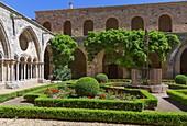 Frankreich, Aude, Narbonne, Fontfroide Abbey, der Kreuzgang