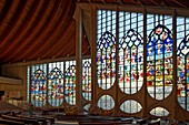France, Seine Maritime, Rouen, the modern church of Saint Joan of Arc, place of conservation of the stained glass from the former St. Vincent Church destroyed in 1944