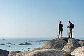 France, Finistere, Brignogan Plages, walk along the coastline of Kerlouan and the coast of the Legends in the heart of Country pagan11