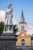 France, Martinique, Les Trois-Ilets, Notre-Dame de la Bonne-Delivrance church and World War I Memorial