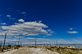 Deserted area in the desert on Salton Lake, California, USA