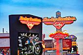The Harley Davidson Cafe on Las Vegas Boulevard in Las Vegas, Nevada, USA