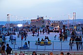 France, Bouches du Rhone, Marseille, the Belle de Mai district, the Wasteland, the roof terrace during the Spring opening night of Contemporary Art