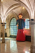 France, Pas de Calais, Arras, giant friend bidasse in the city hall of the town hall