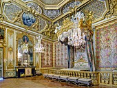 France, Yvelines, palace of Versailles listed as World Heritage by UNESCO, the queen's bedchamber