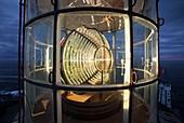 France, Finistere, Plougonvelin, Saint Mathieu cape, Inside Saint Mathieu lantern, Historical monument classified
