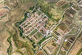 France, Charente Maritime, Brouage, the fortified city (aerial view)