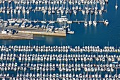 France, Vendee, Les Sables d'Olonne, Port Olona marina (aerial view)