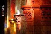 France, Haute Loire, Brioude, Basilica of Saint Julien, capital