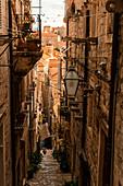 Alley in old town, Dubrovnik, Croatia