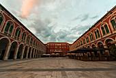 Republic square against cloudy sky, Trg Republike, Split, Croatia
