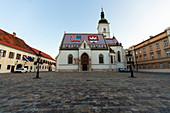View of St. Mark's Church, Zagreb, Croatia