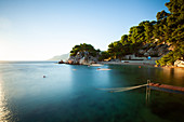 Scenic view of coast against sky, Brela, Croatia