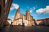 Blick auf den Veitsdom, Prag, Tschechien
