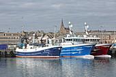 Hafen mit Fischerbooten, Petershead, Aberdeenshire