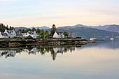 Dorf Plockton am Loch Carron, Highlands