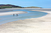 Stand-up paddler on Luskentyre Beach, Isle of Harris, Outer Hebrides