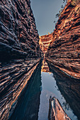 Waterhole in the Hancock Gorge in Karijini National Park in Western Australia, Australia, Oceania;