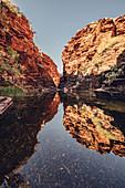 Waterhole in the Joffre Gorge in Karijini National Park in Western Australia, Australia, Oceania;