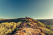 Sunrise at the Natures Window in Kalbarri National Park in Western Australia, Australia, Oceania;