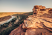 Evening mood at the Natures Window in Kalbarri National Park in Western Australia, Australia, Oceania;