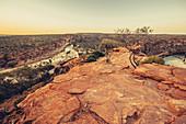 Abendstimmung im Kalbarri Nationalpark in Westaustralien, Australien, Ozeanien