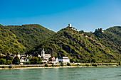 Sterrenberg Castle and Liebenstein Castle, Bad Salzig, Middle Rhine Valley, Rhineland-Palatinate Germany