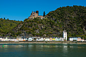 Katz Castle on the Rhine, St. Goarshausen, Upper Middle Rhine Valley, Rhineland-Palatinate, Germany