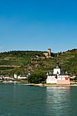 Pfalzgrafenstein Castle with Gutenfels Castle, Kaub, Upper Middle Rhine Valley, Rhineland-Palatinate, Germany