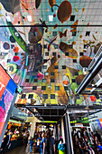 MARKTHAL ROTTERDAM, COVERED MARKET, GASTRONOMIC STROLL, ARTISTIC CURIOSITY, CITY CENTER, ROTTERDAM, HOLLAND, THE NETHERLANDS