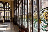 FIRST FLOOR SALON, PALAU DE LA MUSICA CATALANA (PALACE OF CATALAN MUSIC), ARCHITECT DOMENECH I MONTANER, BARCELONA, CATALONIA, SPAIN