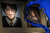 PHOTOS OF THE ACTORS IN THE ENTRANCE HALL, STUDIO TOUR LONDON, THE MAKING OF HARRY POTTER, WARNER BROS, LEAVESDEN, UNITED KINGDOM