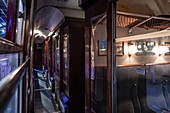 INSIDE THE HOGWARTS EXPRESS TRAIN, STUDIO TOUR LONDON, THE MAKING OF HARRY POTTER, WARNER BROS, LEAVESDEN, UNITED KINGDOM
