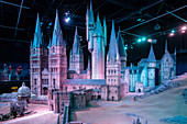SCALE MODEL OF HOGWARTS, STUDIO TOUR LONDON, THE MAKING OF HARRY POTTER, WARNER BROS, LEAVESDEN, UNITED KINGDOM