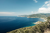 West coast of Cap Corse, Corsica, France.