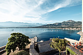 View from Citadel to Calvi Bay, Corsica, France.