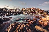 Long exposure of the Canal Rocks at Yallingup, Margaret River, Western Australia, Australia, Oceania