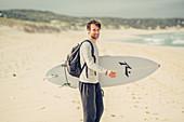 Surfers on Boodjedup beach at Margaret River, Western Australia, Australia, Oceania