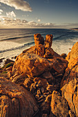 Sunset at the Wilyabrup sea cliffs at Margaret River, Western Australia, Australia, Oceania