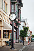 Historic downtown Ferndale, Highway 1, California, USA