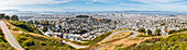 View from the Twin Peaks on San Francisco, California, USA