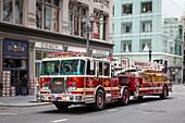 San Francisco Fire Department Aerial Truck, San Francisco, California, USA